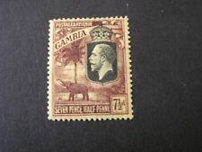 GAMBIA, SCOTT # 111, 71/2p. VALUE VIOLET YELLOW  KGV+ELEPHANT ISSUE MVLH