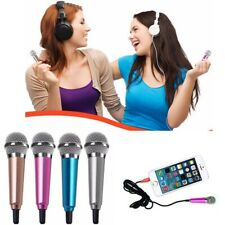 Cell Phone Singing Mic Wired Stereo Mini Portable Pocket Karaoke Microphone US