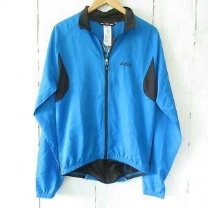 New Louis Garneau Modesto 2 Cycling Jacket M Medium Blue Reflective Biking