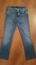 """7 For All Mankind """"A"""" Pocket Jeans size 24 x 27 Medium Wash Bootcut Stretch"""