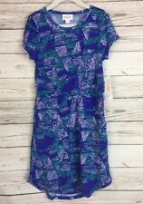 NWT LuLaRoe Kids MAE Dress 8 Purple Green White Geometric Polka Dot NEW