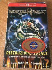 Vhs Mortal Combat Distruzione totale film di John R. Leonetti CARTONATO