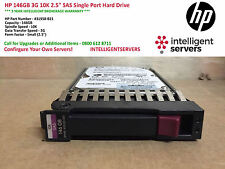 "HP 146GB 3G 10K 2.5"" SAS Single Port Hard Drive ** 431958-B21 / 432320-001 **"