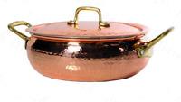 Casserole Cuivre de Cuisine avec Intérieur Étamé Professionnel 25 cm Sauce