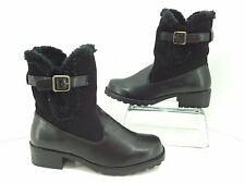 "Trotters ""Blast Too"" Women's Black Weatherproof Snow Winter Boots, Size 6 W WIDE"