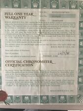 Original Rolex DAYTONA 16523 Rolex Guarantee Warranty Watch Certificate 1998