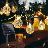 Solar Powered Fairy String LED Lights Lamp Waterproof Decor Party Garden Outdoor