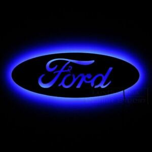 Backlit Ford Logo Wood 2D Sign * WAY COOL BLUE LED! Free Shipping to USA! LOOK!