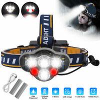 USB Rechargeable 6 LED Headlamp Headlight Head Lamp Torch Flashlight Waterproof