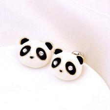 Cute panda crystal ear studs Cartoon Images stud earrings jewelry Xmas gift