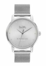 Coach Grand Silver Stainless Steel Band White Dial 14503741 $195