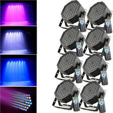 8PCS LED RGB Stage Lighting PAR Light Remote DMX Light Party Effect Lights 80W