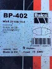 Toyota Hi-Ace Hi-Lux Front Brake Pads BP-402 WVA21158