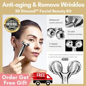 3D Dimond Beauty Face Massage Roller Tool Facial Massager Body Eye Massager Jade