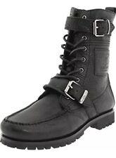 Polo Ralph Lauren Radbourne Black Oiled Tumbled Boots Size 11D Men's
