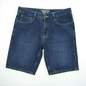 The 1964 Denim Co 100% Cotton Dark Blue Denim Shorts Men's Size 34