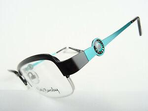 BETTY BARCLEY Damenbrille schwarz türkis Metallfassung gerade Form Halbrand Gr.M