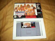 Super Nintendo Video Game American Gladiator Game & Box SNES Tested & Screenshot