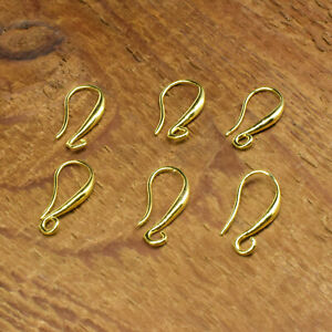 20PCS Design Jewelry Findings Gold Filled Smooth Pinch Bail Earring Hook Earwire