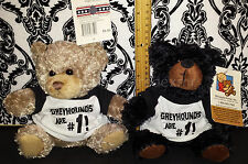 (2) My Town Originals Teddy Bear  Greyhounds are #1!  T Shirt - School's Teams