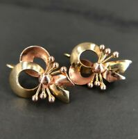 VINTAGE: Schleifchen Ohrringe aus 585 14K Gelbgold & Rotgold