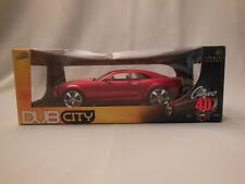 JADA TOYS 1/18 DUB CITY 40TH ANNIVERSARY CANDY RED 2006 CHEVY CAMARO CONCEPT