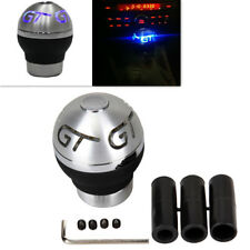 Car Universal Metal 5/6 Speed Gear Shift Knob Touch Sensor Blue Flash LED Light