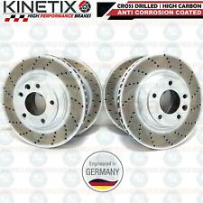 FOR AUDI Q7 VW TOUAREG PORSCHE CAYENNE FRONT REAR DRILLED BRAKE DISCS 350m 330m