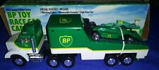BP AdvertisingToy Race Car Carrier Truck Trailer Limited Edition Lights NEW