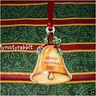 Longaberger Basket 2003 Merry Christmas Bell Tie-On ~ Ceramic Holiday Caroling