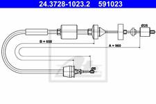 Seilzug Kupplungsbetätigung - ATE 24.3728-1023.2