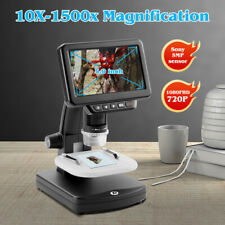 5 Inch Digital Microscope 1500x Maginfication 1080p Coin Microscope For Mac Hdtv