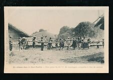 Vietnam HAUT-TONKIN military France 80mm canon carried by coollies c1902 u/b PPC