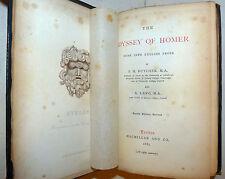Classici - ODISSEA di Omero in inglese 1883 ODYSSEY OF HOMER, MacMillan 4th ed.
