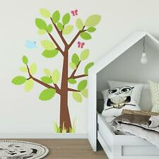 Kids Nursery Giant Tree Wall Decals Polka Dotted Tree Bedroom Decorations