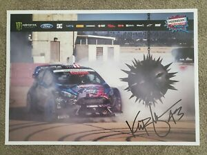 Ken Block Hoonigan Autographed Poster approximately 23.5 X 16.5.. Excellent Cond