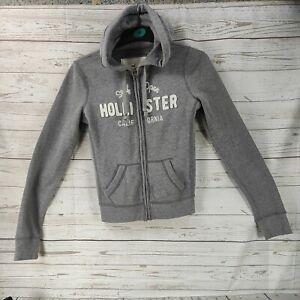 Womens/girls Hollister Grey/White Hoodie Size XS