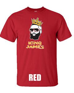 "James Harden Houston Rockets ""New King James"" T-shirt S-XXXX NEw"
