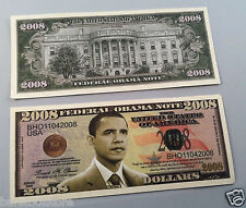 2008 DOLLARS Barack H. Obama FAKE DOLLAR BILLS Lot of 10-