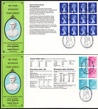 1972 COMPLETE WEDGWOOD MACHIN PANES ( INC 1/2d SIDEBAND ) ON SCARCE FDC'S