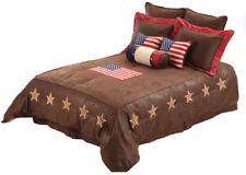 USA Comforter Set American Flag Rustic Style King Size 7PC Bedding Set