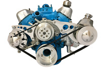 SBF 289 302 Serpentine Pulley Conversion Kit Alt PS Saginaw Small Block Ford  2