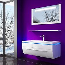 Badezimmermöbel set weiß hochglanz  Lackierte Badmöbelsets | eBay