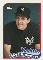 FREE SHIPPING-MINT-1989 (YANKEES) Topps #335 Dave Righetti PLUS BONUS CARDS