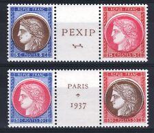 """FRANCE YVERT N° 348 / 351 """" PEXIP VARIETE COULEURS DECALEES """" NEUFS xx LUXE T088"""