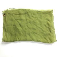 VTG Green Silk Hand Rolled Scarf Solid Sheer Vintage Lady Bug 1960s Mid Century