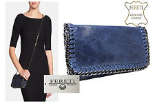 Borse Pelle Leather Handbag Blue S Handtasche Blau Leder Sac A Main Cuir Bleu