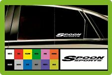 SPOON SPORTS - 2 x CAR DECAL STICKERS  - Fits HONDA 145mm long - Colour Choice!