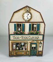 Brandywine Woodcrafts Houses & Shops: Tick-Tock Clocks - Wooden Shelf Sitter