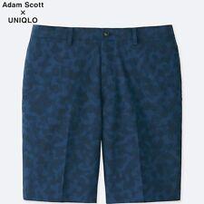 ADAM SCOTT x UNIQLO 'DRY Stretch Kando' Navy Blue Camo Men's Active Shorts M NWT